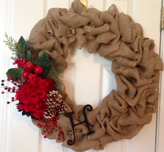 Unavailable listing on etsy Burlap xmas wreath