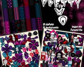 Pretty in Emo Digital Scrapbook Kit