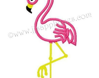 Instant Download - Bird Embroidery Applique  - Flamingo Design - Boy digitized embroidery applique design 4x4, 5x7, 6x10 hoops