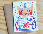 Happy Birthday (cat), Card