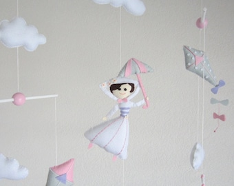 Mary Poppins baby nursery mobile