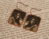 Native American earrings Lozen earrings mixed media jewelry