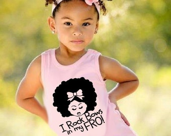 Natural T-shirt-Afro BowsTank Top (2T-6T) or kids (XS,S,M,L,XL)