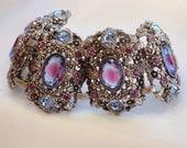 Selro Art Glass Rhinestone Bracelet