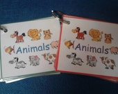 Animals Sight Words Laminated on a Ring For Toddler or Preschooler: In Boy, Girl, or Neutral Colors!