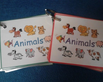 Animals Flash Cards, Toddler,  Learning / Educational, Toddler Gift, Animal Cards, Montessori Toddler, Laminated, Toddler Travel/Activities