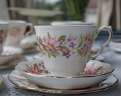 RESERVED FOR KELLY 3 X Colclough vintage china tea cup trio