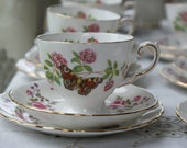 RESERVED FOR KELLY 3 X Vintage china mismatched tea cup trio