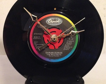 "Recycled DURAN DURAN 7"" Record / The Wild Boys / Record Clock"
