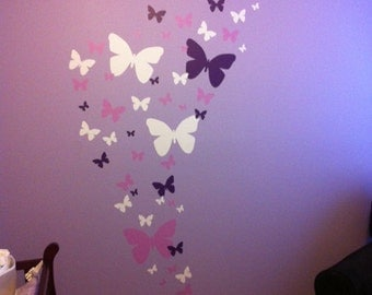 Girls Wall Decals, Butterfly Wall Decals, Kids Wall Stickers