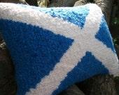 Scottish Saltire Flag Decorative Cushion / Pillow - Love Britain Range