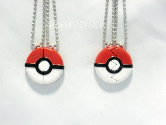 Pokeball Inspired BFF/Couple's Necklace/Charm
