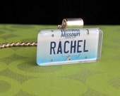 Personalized Missouri License Plate Pendant Necklace by PL8LINKS
