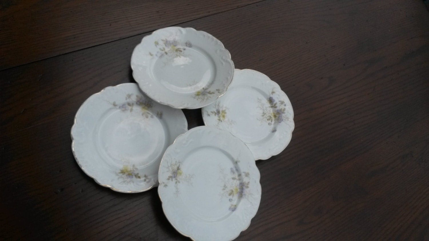 Vintage BampB PLATE Dessert Plates Bridal Shower By Mermaidwatch