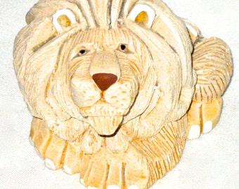 Vintage Artesania Rinconada ceramic lion sculpture leo