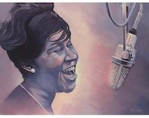 Aretha Franklin 8 x 10 giclee print