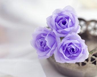 71_Rose pins, Flower pins, Purple hair pins, Flower hair accessories, Hair flowers, Rose clips, Flower barrettes, Violet hair flowers,  Pin