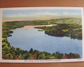 Lot of Five Vintage Linen Postcards Lake Fairlee in the Green Mountains, Vermont - MINT