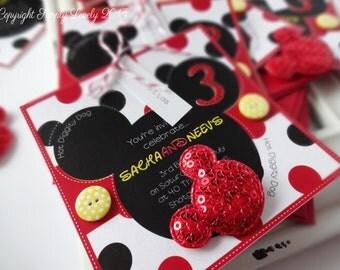 10 x 'Mickey' Themed Party Invitations!