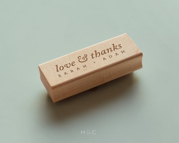 Love & Thanks - Personalized Stamp