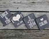 rustic wedding gift custom coaster gift set mothers personalized gift set wedding gift anniversary gift set