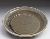 Earthy green ceramic stoneware pie plate
