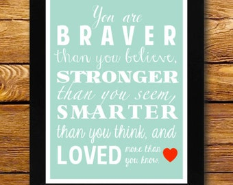 You Are Loved More Than You Know Poster- Digital Print