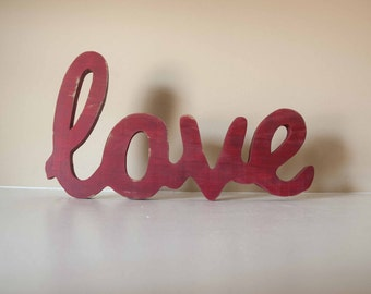 Love Wood Sign Custom Made Home Decor