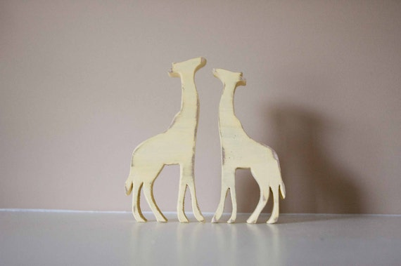Giraffes Wood Animal Nursery Decor