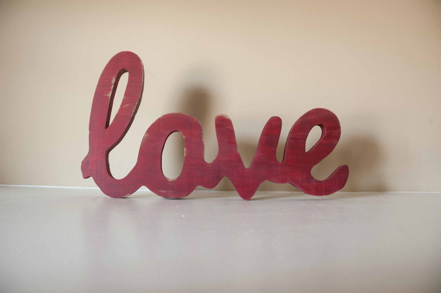 Love Wood Sign Custom Made Home Decor Valentines Decor Love