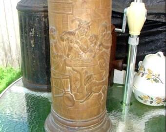 Antique Brass Umbrella Stand Marq Del La Bella Made In