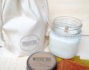 ALMOND BISCOTTI  // Wood Wick // Mason Jar // Soy Candle // 8oz // Perfect Gift