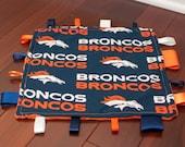 Denver Broncos Tag Blanket - Personalization Available