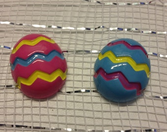 Easter Egg Flat Back Resins - Cabachons - Bow Centers - 10 Pieces