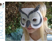 Snowy Owl Mask PATTERN.  One size fits most.  INSTANT DOWNLOAD. - EbonyShae