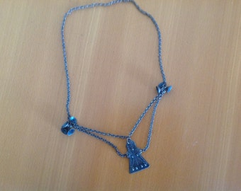 Vintage copper necklace  with pendant