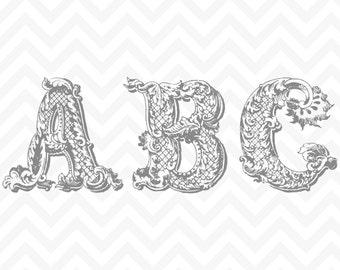 60% OFF SALE Vintage Clipart, Vintage Alphabet, Alphabet Clipart, Digital Alphabet, Vintage Digital, Vintage Letters, Clip Art Alphabet
