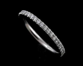 Diamond Wedding Ring, Comfort Fit Wedding Ring, Stackable Diamond Band, Women's Gold 1.8mm Ring, Classic Diamond Conflict Free Wedding Band
