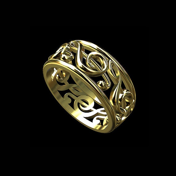 Treble Clef Wedding Ring Music Note Ring Music Symbol Ring
