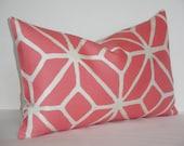 Trina Turk Trellis in Watermelon - 12 x 20  - Designer Pillow Cover - Schumacher Pillow  ~ Indoor Outdoor Pillow cover