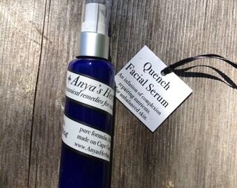 Quench Nutrient Rich Organic Facial Serum, refining anti aging skin care, adult acne treatment, sun damage, organic skin care, rebalancing