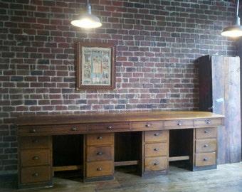 Oak Drafting Desk