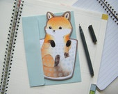 Birthday Card - Fox in a Tumbler