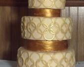 Fondant Faux 3-Tier Cake