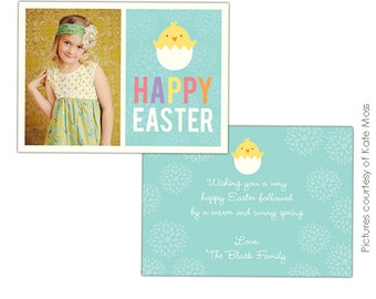 INSTANT DOWNLOAD - Easter Photocard - Photoshop Template - E337