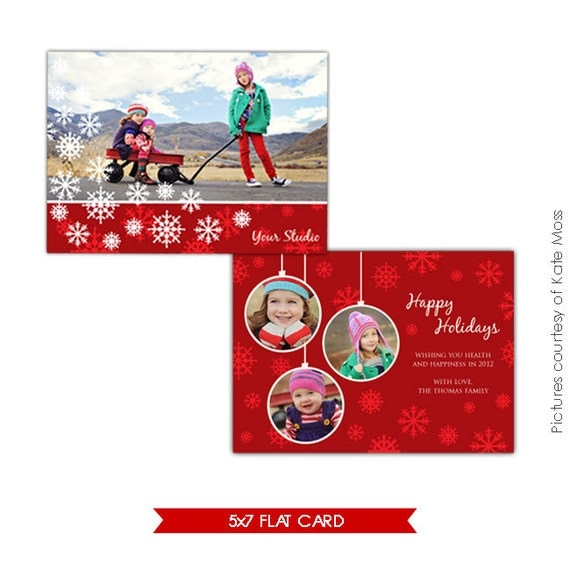 Photoshop Holiday Card Template - Love winter - E182