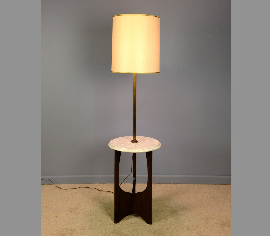 vintage marble and brass floor lamp with by. Black Bedroom Furniture Sets. Home Design Ideas