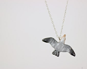 Tiny Seagull Necklace - Made To Order