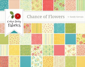 Chance of Flowers by Sandy Gervais for Moda - One Jelly Roll - 17760JR
