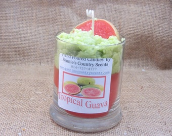 Tropical Guava  Gourmet Scented De-Light Candle